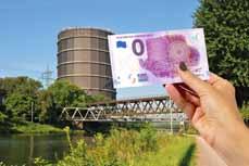 Bild: Der schöne Schein: Die limitierte Auflage der Gasometer-Banknote ist ab Montag auch in den beiden touristischen Informationsstellen in Oberhausen erhältlich. (Foto: OWT GmbH)