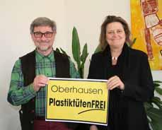 Bild: Dr. Wolfgang Doktor, Sprecher der Lokalen Agenda Oberhausen, und Sabine Lauxen.