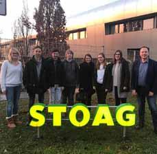 Bild: Vertreterinnen und Vertreter des Jugendparlamentes zu Gast bei der STOAG. (Foto: STOAG)
