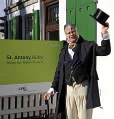 Bild: Gottlob Julius Jacobi erzählt die Geschichte der St. Antony-Hütte. (Foto: LVR)