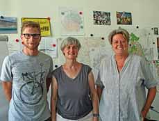 Bild: Dr.-Ing. Marcel Knauf, Ricarda Mauksch (städtische Verkehrsplanung) und die Beigeordnete Sabine Lauxen haben die Maßnahmen vorgestellt. (Foto: Stadt Oberhausen)