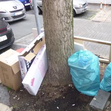 Bild: Wer seinen Müll illegal entsorgt, muss mit einem Bußgeldbescheid rechnen. (Foto: Stadt Oberhausen)