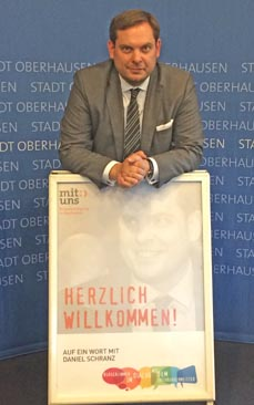 Bild: Oberbürgermeister Daniel Schranz. (Foto: Stadt Oberhausen)