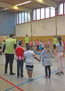 Bild: Das Bewegungsangebot kommt bei den Kindern gut an. (Foto: Stadt Oberhausen)