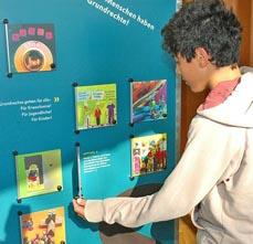 Bild: Die Ausstellung ECHT FAIR! ist interaktiv. (Foto: BIG Prävention)