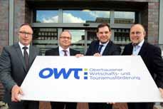 Bild: Rainer Suhr, Frank Lichtenheld, Daniel Schranz und Franz Muckel (v. li.) (Foto: OWT)