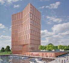 Bild: So soll der neue Hotel- und Bürokomplex aussehen. (Entwurf:  PSP Weltner Louvieaux Architekten)