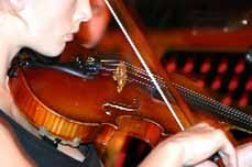 Bild: Mehrere Orchester spielen in der Luise-Albert-Halle.