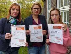 Bild: Britta Costecki, Julia Pietrasch und Maren Heutger (v. li.) von der städtischen Gleichstellungsstelle.
