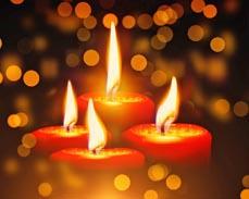 Bild: Kerzen sollte man nie zu weit herunterbrennen lassen. (Foto: Pixabay)