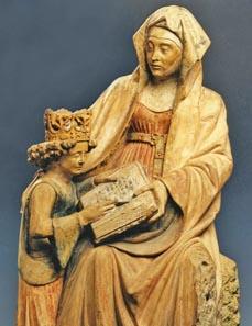Bild: Die Unterweisung Mariens, Werk um 1450. (Foto: Senger)