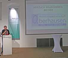 Bild:                     Die Beigeordnete Sabine Lauxen eröffnete die Veranstaltung. (Foto: Stadt Oberhausen)