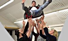 Bild: Das Stück Existent eröffnet den Premierenreigen. (Foto: Theater Oberhausen)