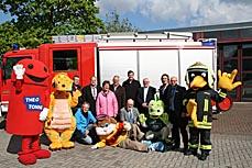 Bild: Organisatoren und Maskottchen freuen sich auf viele Besucher (Foto: Stadt Oberhausen)