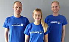 Bild:                     Sven Wörmer (li.), Stephanie Kemper und Simon Flick vom Team Citymanagement. (Stadt Oberhausen)