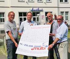 "Bild: Die ""Multi-Macher"" v. li.: Wolfgang Heitzer, Marc Grunenberg,  Hajo Sommers und Apostolos Tsalastras. (Foto: Stadt Oberhausen)"
